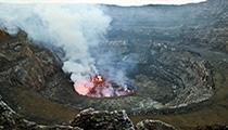 Observe the Virunga Active Volcano, D.R. Congo