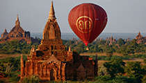 Fly in a Hot Air Balloon over Bagan's Temples, Myanmar