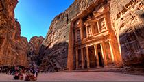 Catch Sunrise at The Treasury, Petra, Jordan