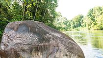 Canoe to Río Plátano Petroglyphs, Las Marias, Honduras