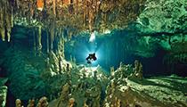 Cave Dive, Yucatan Cenotes, Mexico
